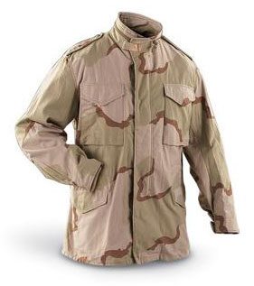 New U.S. Mil-Issue 3 Color Desert Camo M65 Field Jacket