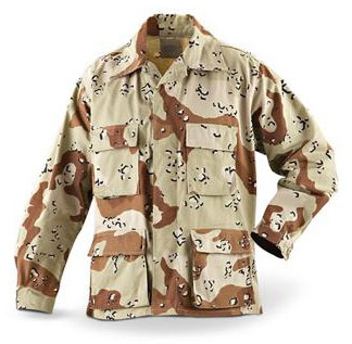 Brand new 6 color desert camo BDU shirt / jacket.