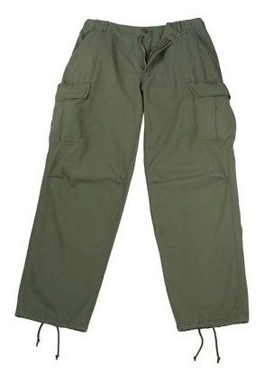 New, U.S. Mil-Issue 1969 Vintage Vietnam OD BDU Trousers
