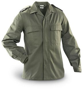 Official Belgian Military Olive Green Field Shirt