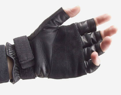 HellStorm Blackhawk Lightfighter Padded Advanced 1/2 Finger Tactical Leather Gloves